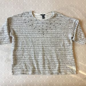 3/$20 H&M studded Heather Grey Knitted Terry Top L